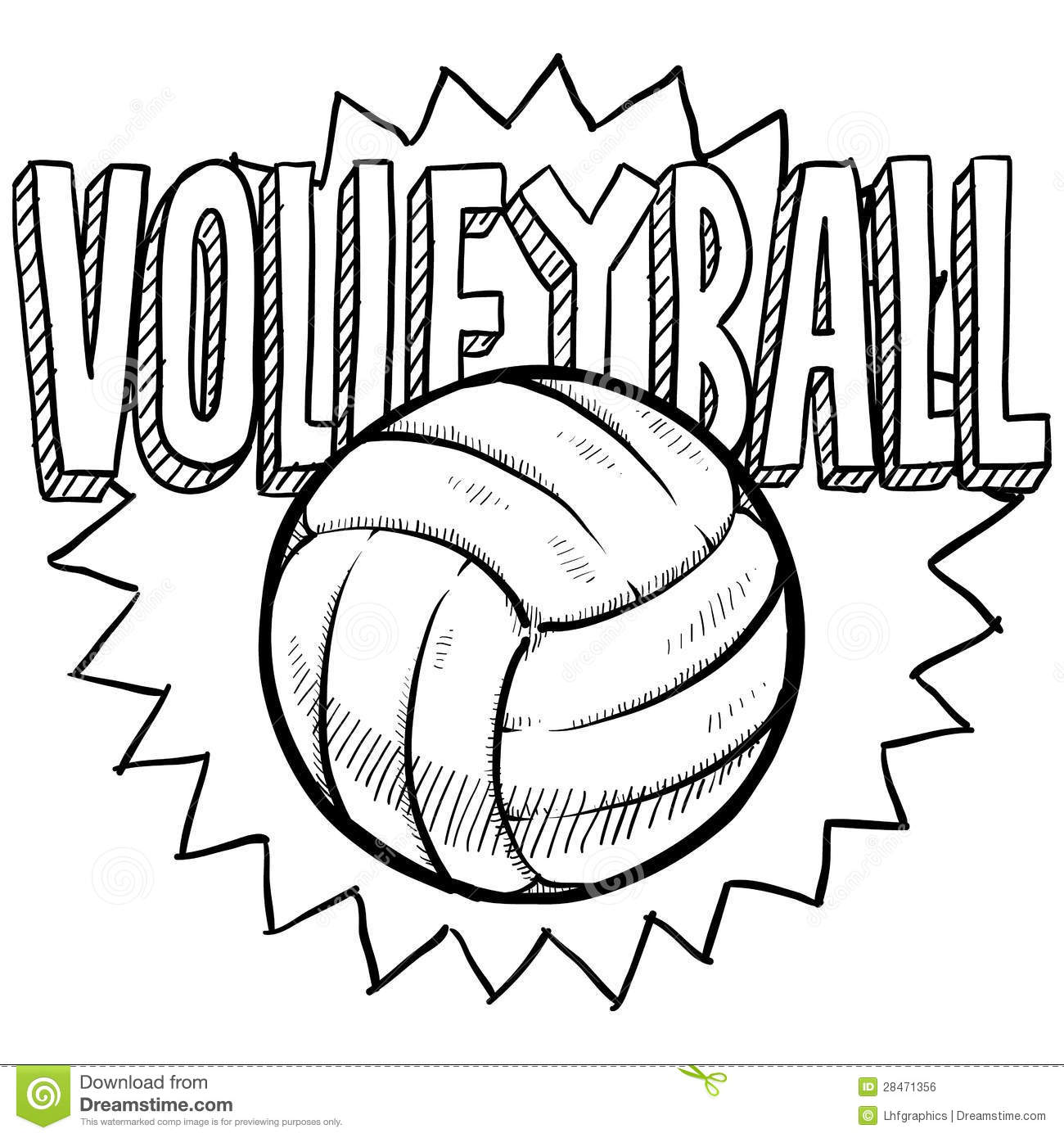 Volleyball Sketch Stock Vector Image Of Kids Health