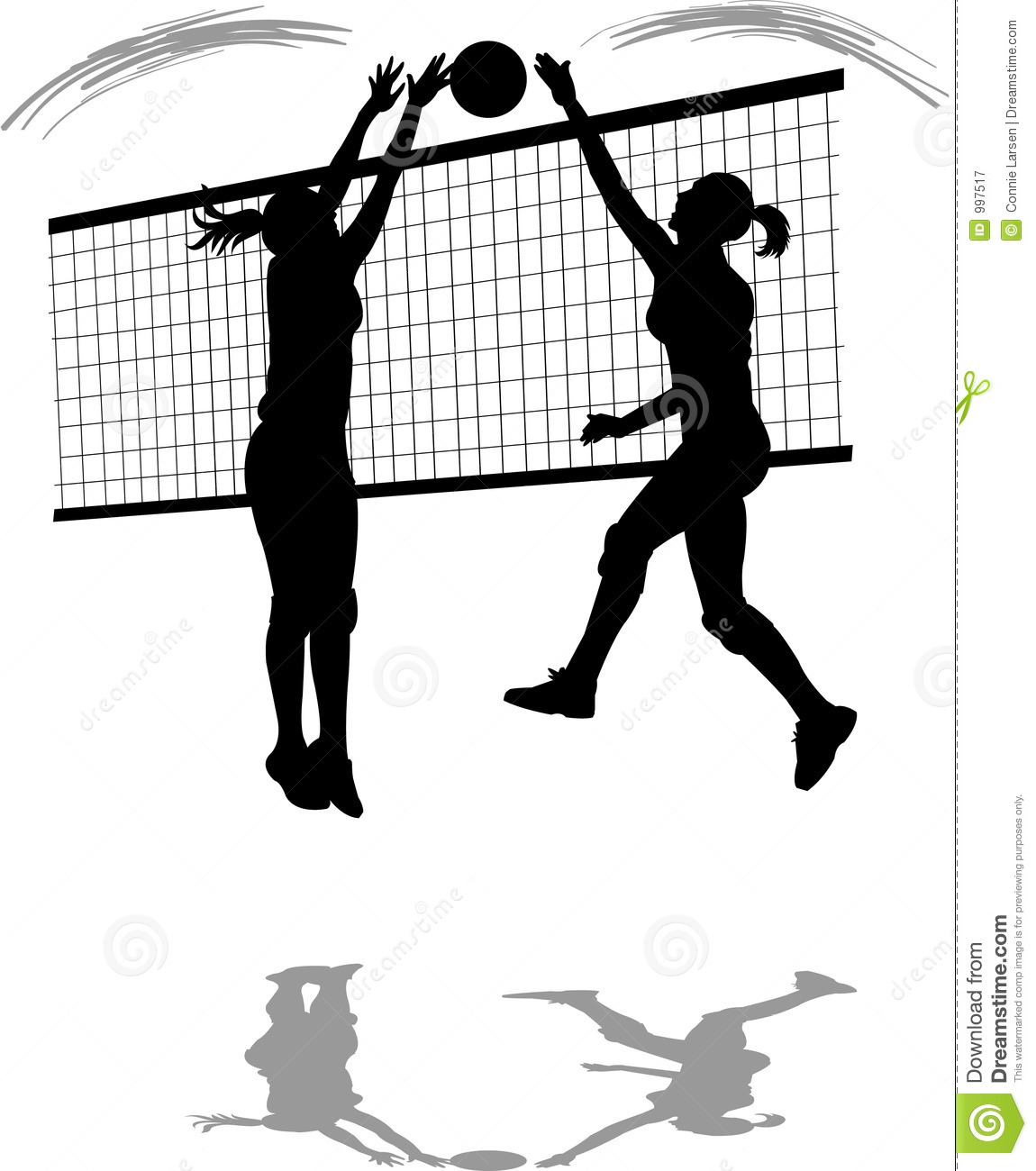 Volleyball Spike/Block Royalty Free Stock Photography - Image: 997517