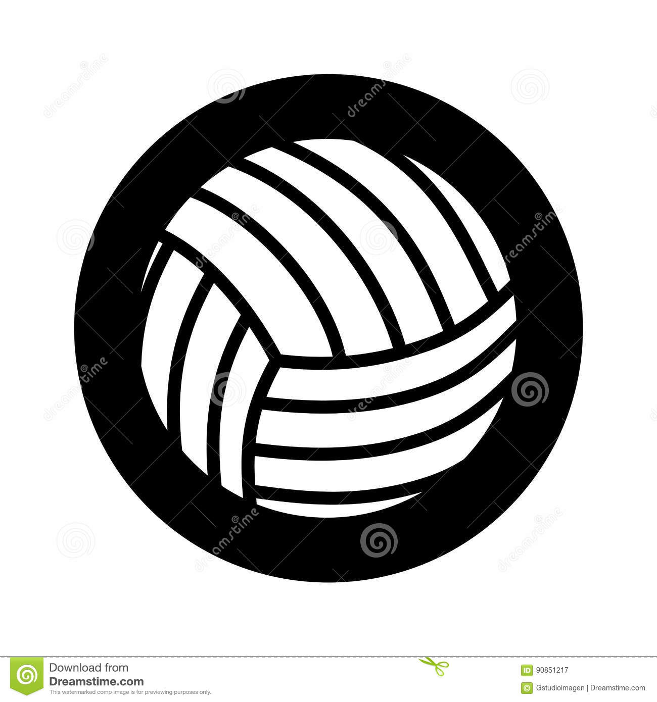 Volleyball Sport Isolated Icon Stock Vector - Image: 90851217