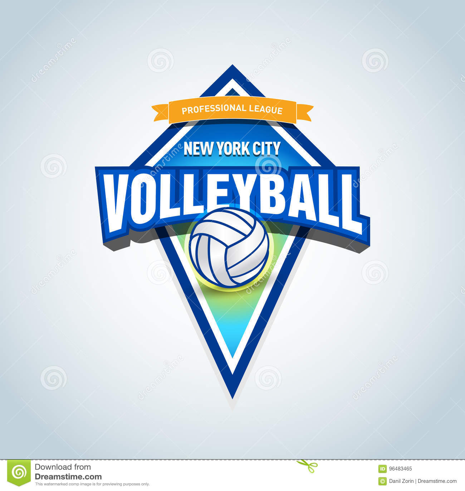 b08e6024 Volleyball team logo template. Volleyball emblem, logotype template, t-shirt  apparel design. Volleyball ball. Vector format.