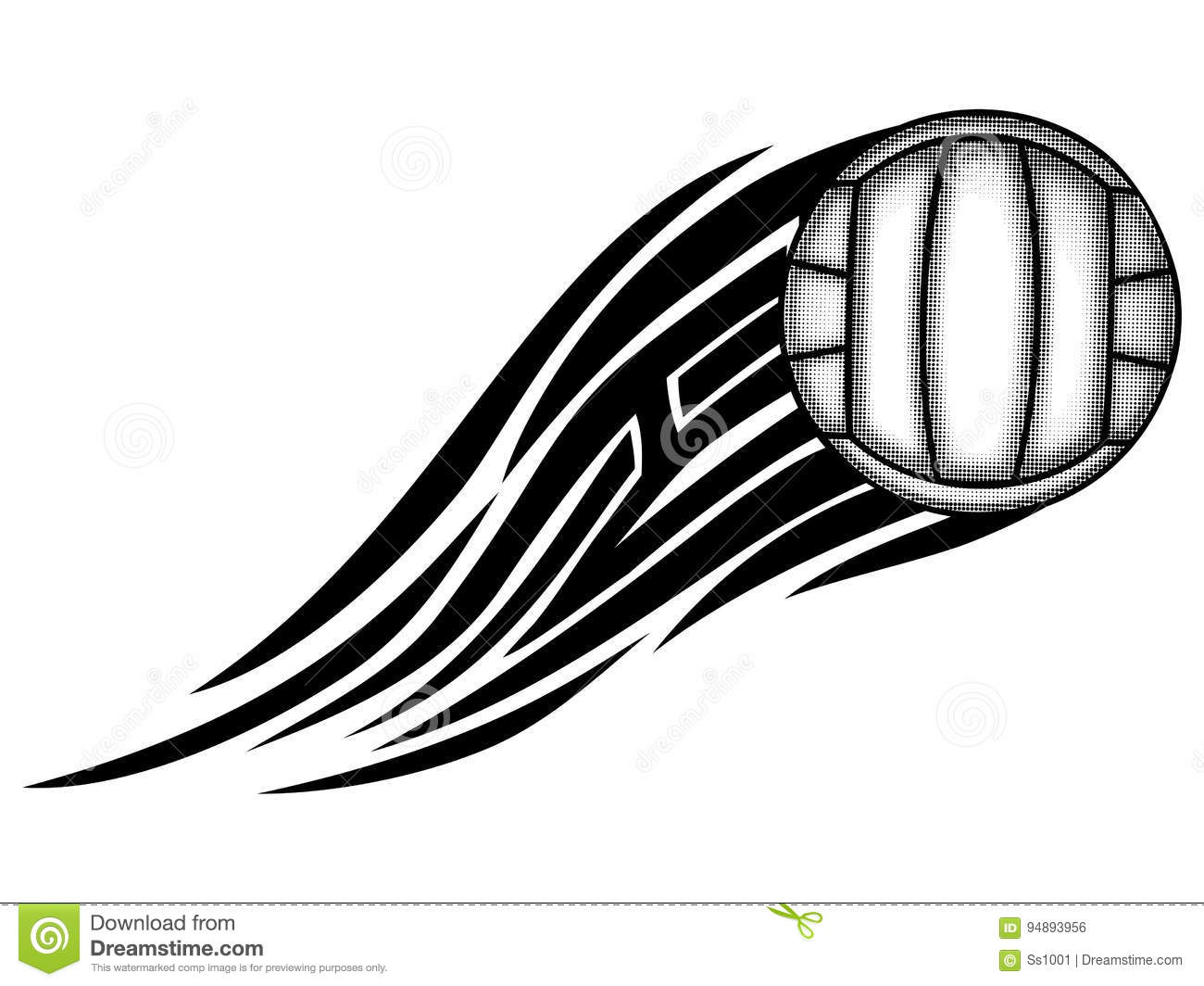 Stock Illustration Volleyball Tribal Abstract Vector