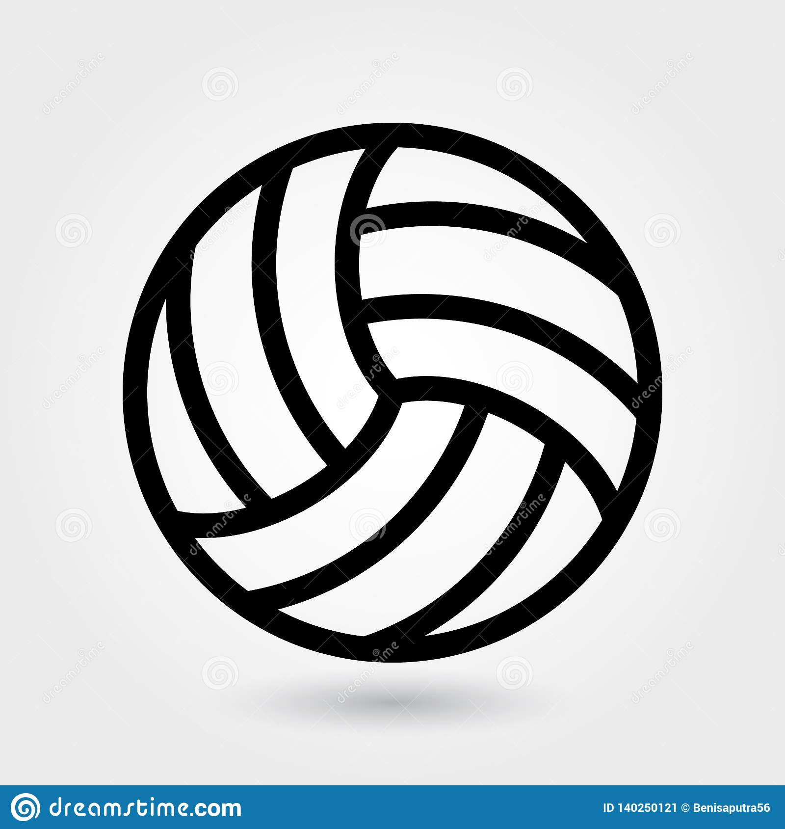 volleyball vector outline ball sports icon volley symbol simple illustration modern basketball preview
