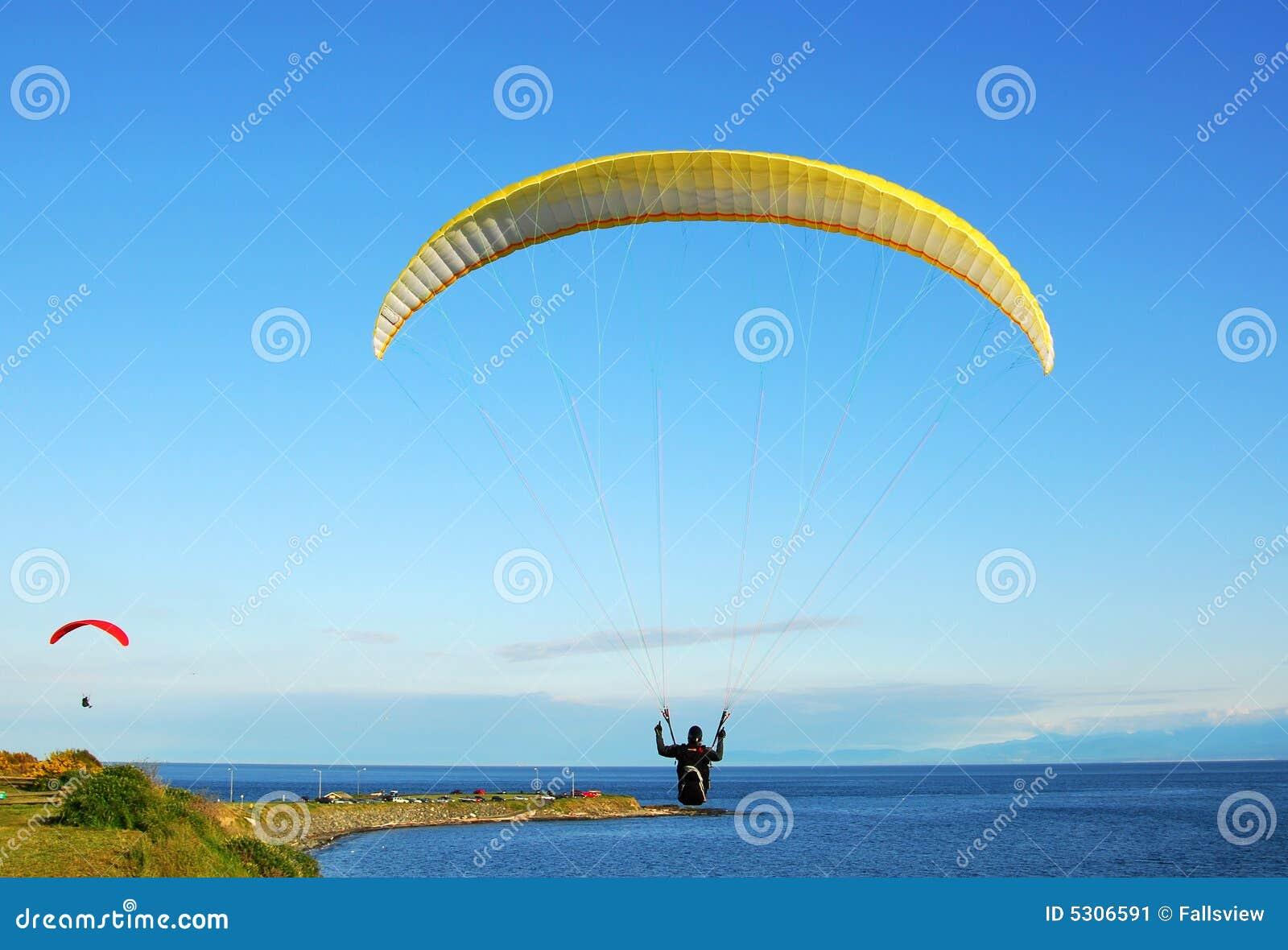 Download Volo dei paracadute immagine stock. Immagine di mosca - 5306591