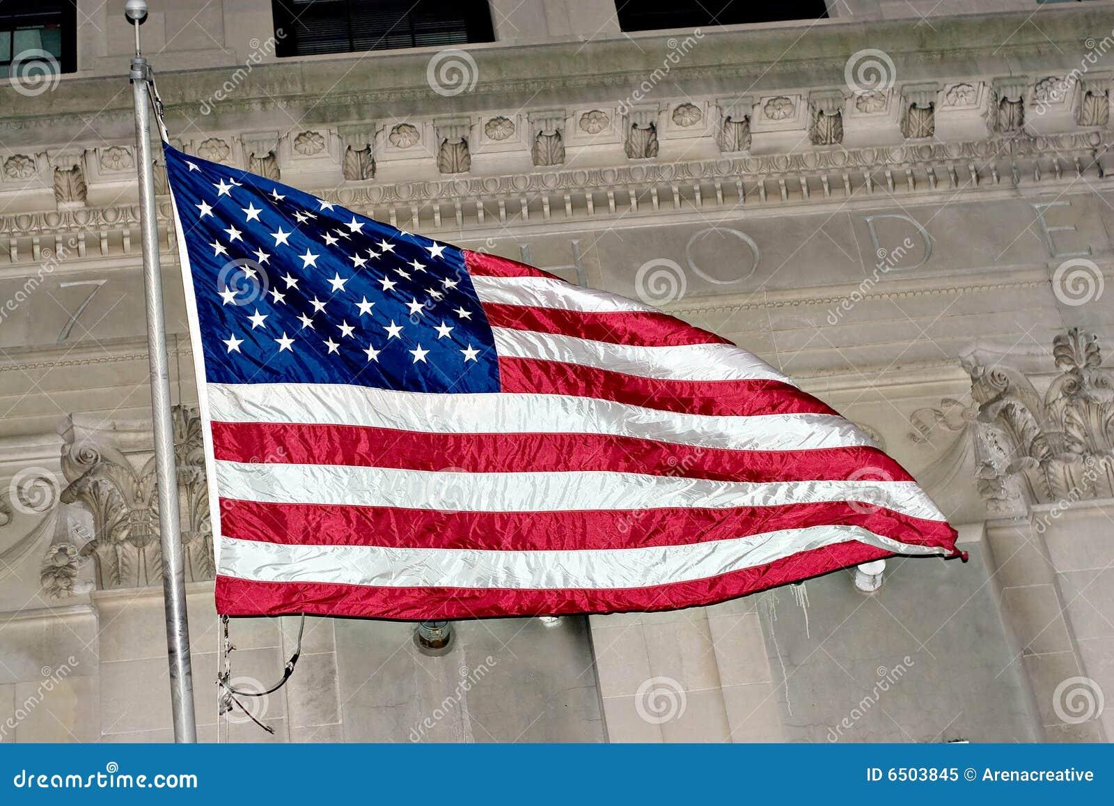 Volo della bandiera americana