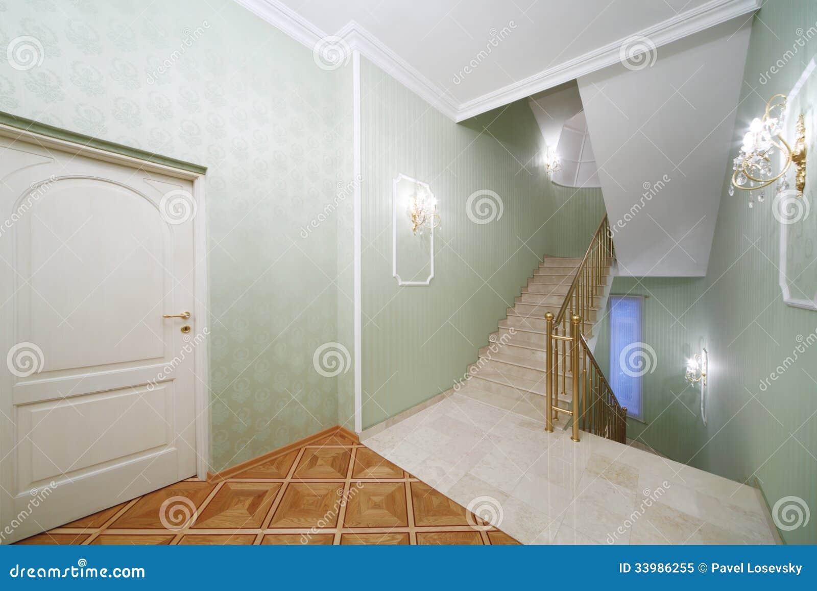 Volo delle scale scale di marmo bianche carta da parati - Scale di marmo ...