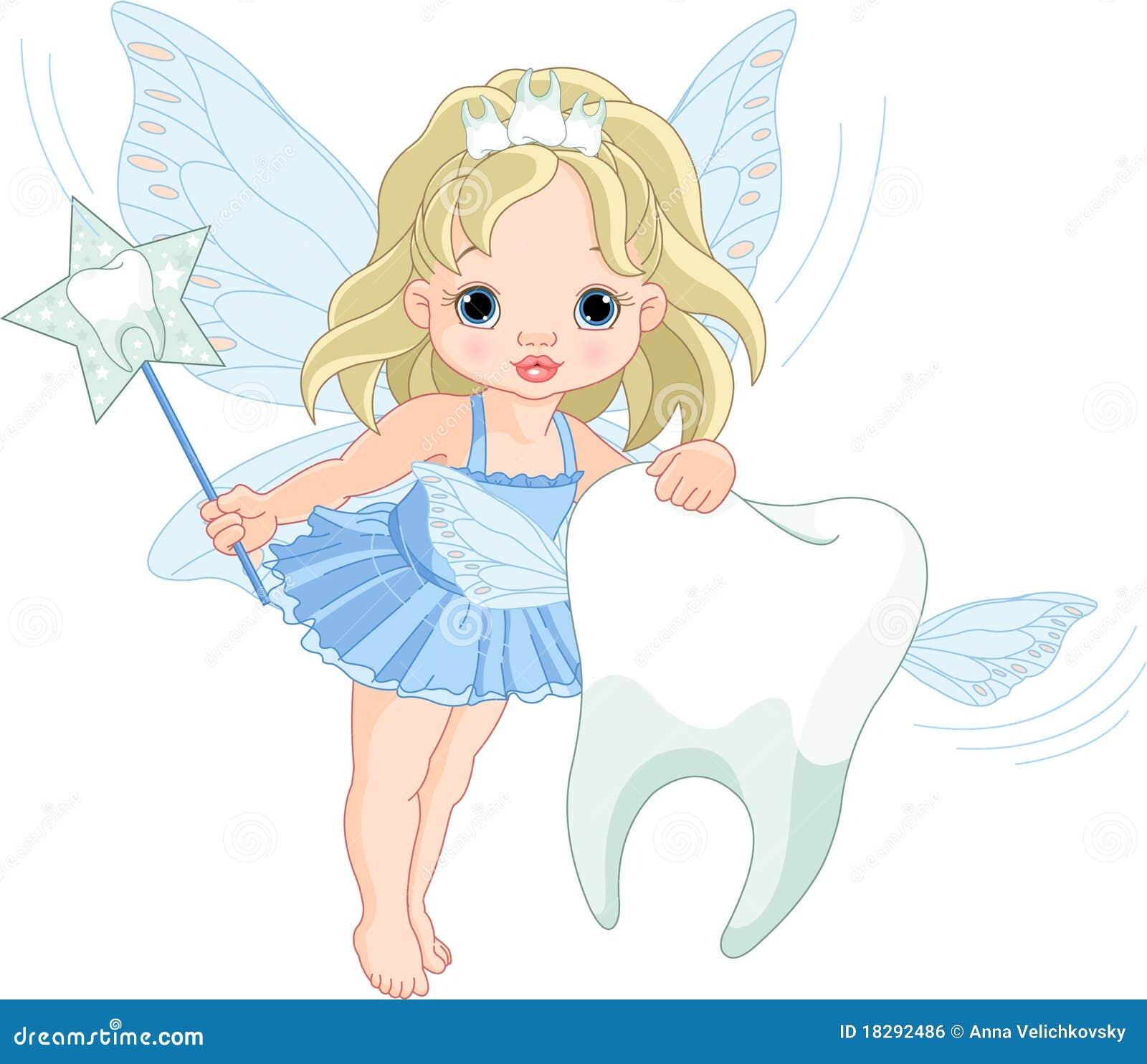 Volo sveglio del Fairy di dente con il dente