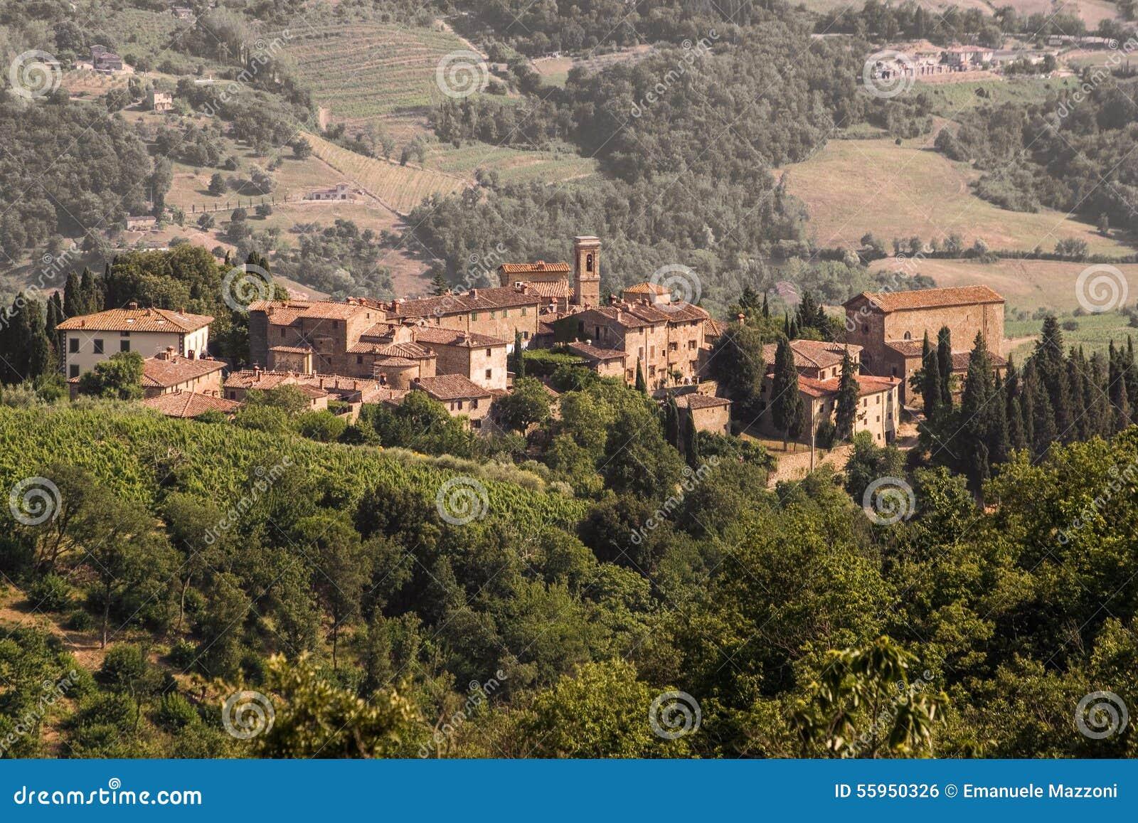 Volpaia, chianti Vue de la Toscane