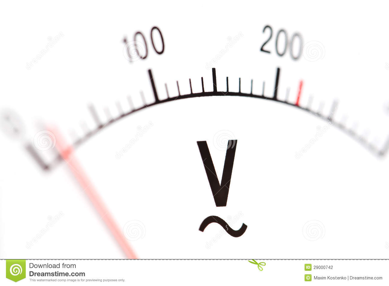 volt meter  macro stock photography