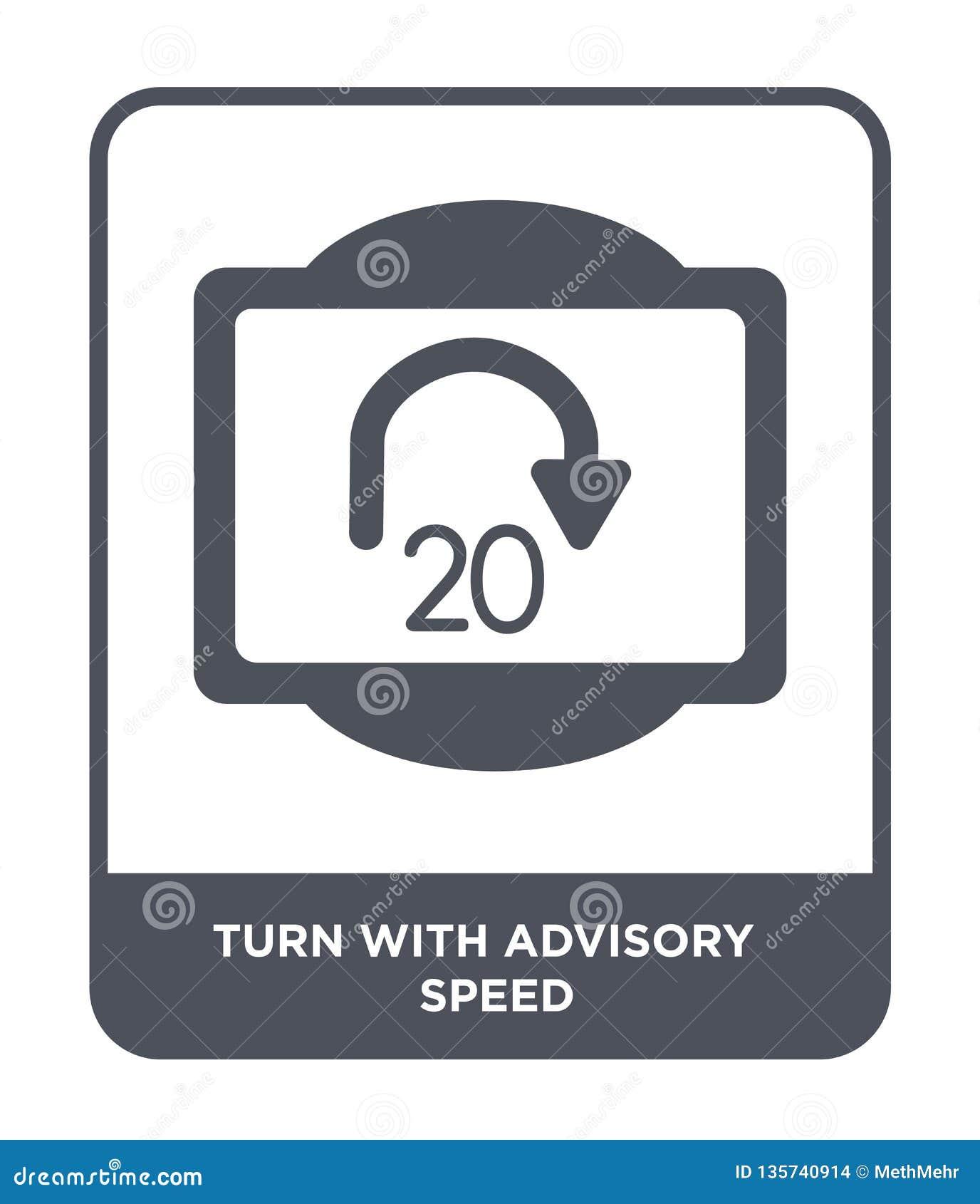 Volta com ícone consultivo da velocidade no estilo na moda do projeto volta com o ícone consultivo da velocidade isolado no fundo