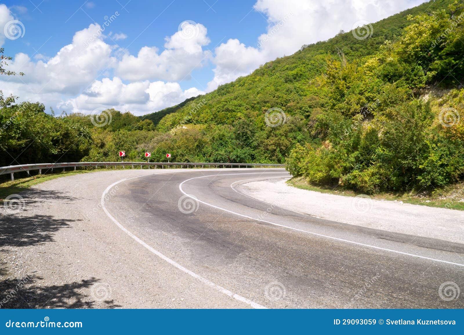 Volta da estrada da montanha