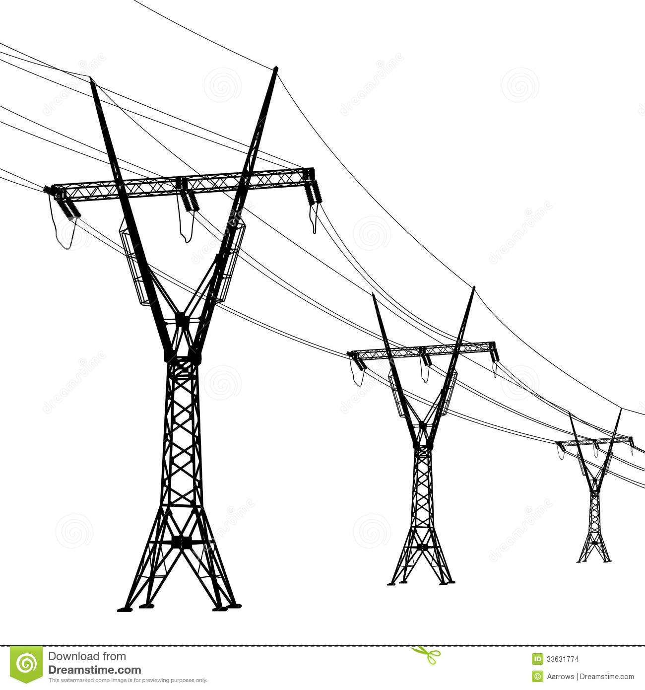 voltage power lines stock vector  illustration of energy