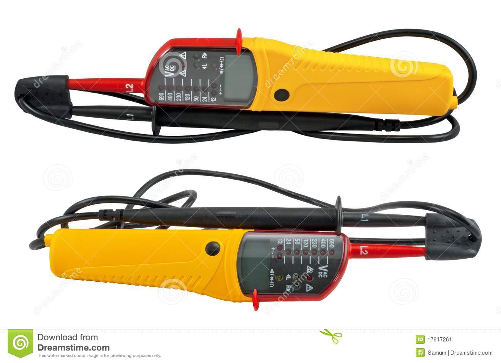White Voltage Tester : Voltage tester stock image