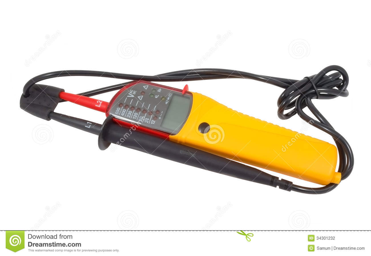 White Voltage Tester : Voltage tester stock photography image