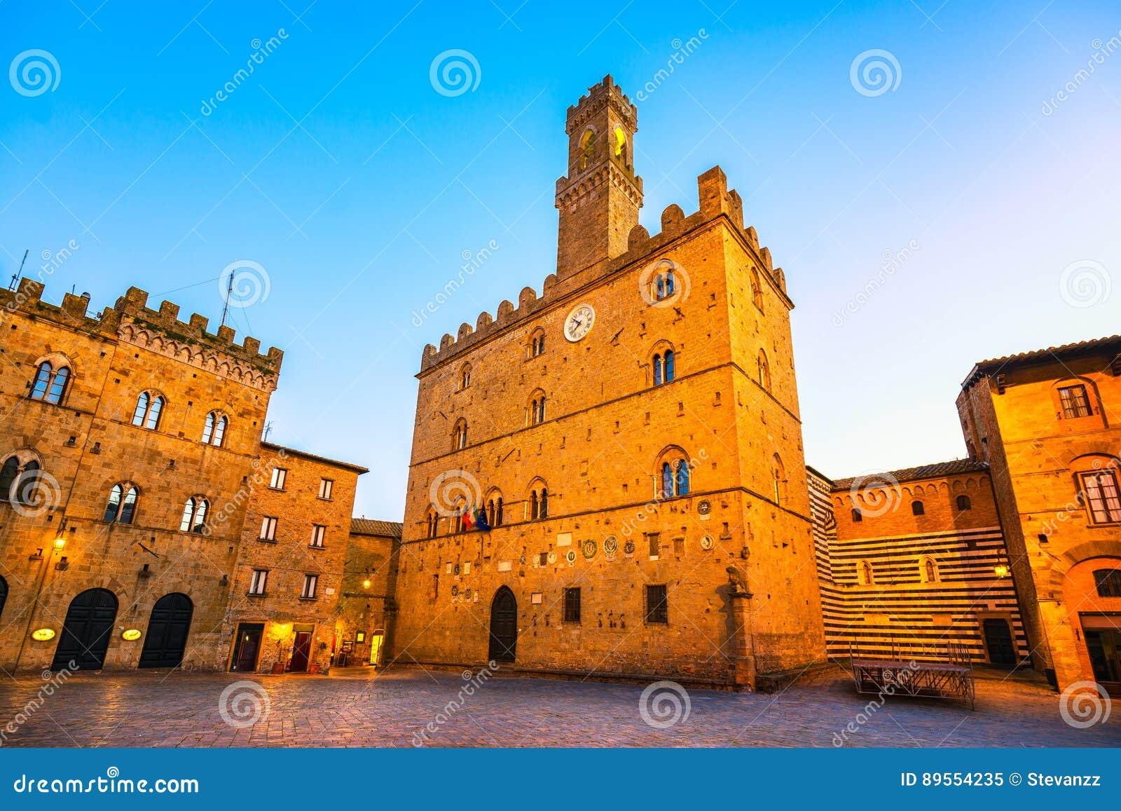 Volterra, palais médiéval Palazzo Dei Priori, état de Pise, le Toscan