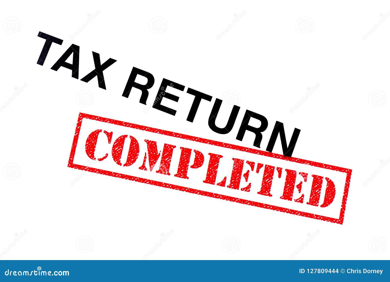 Voltooide belastingaangifte