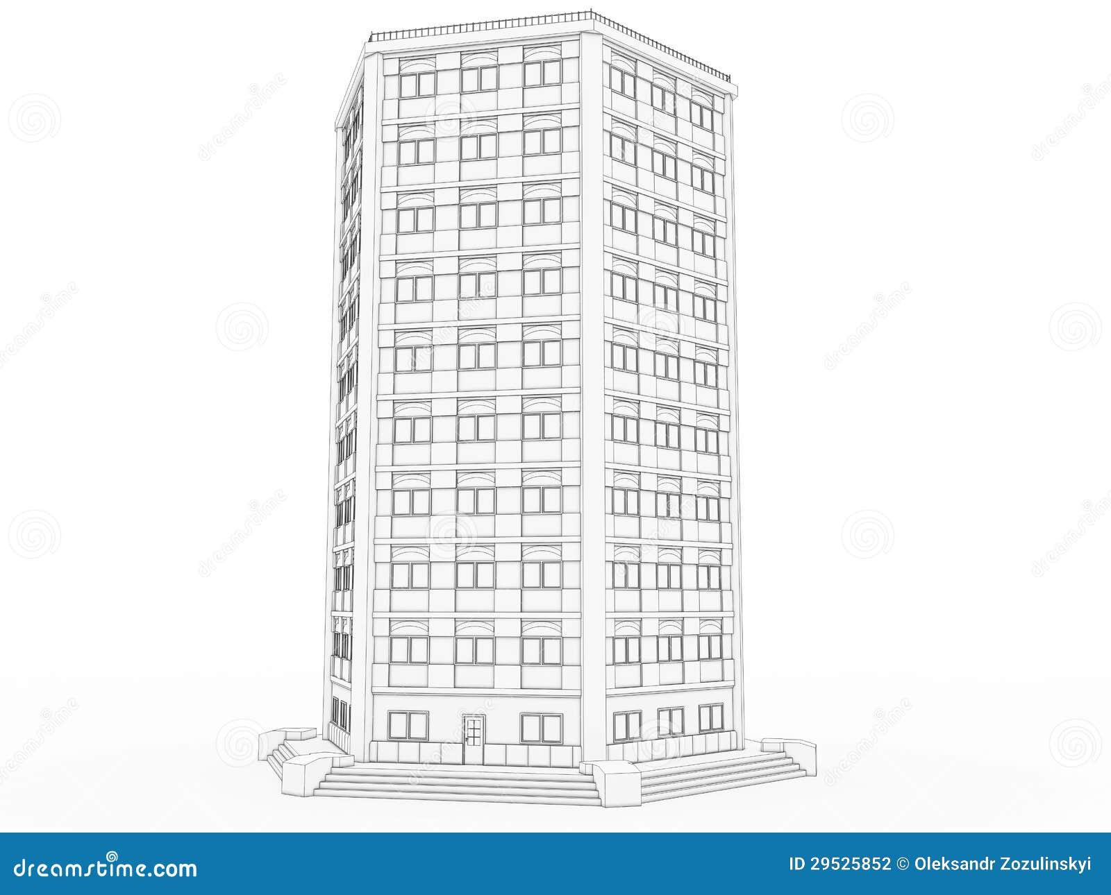 Volumétrico a construção que desenha â1