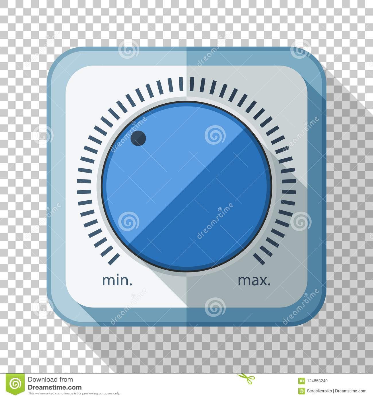 Volume Control Or Volume Knob Icon In Flat Style On Transparent