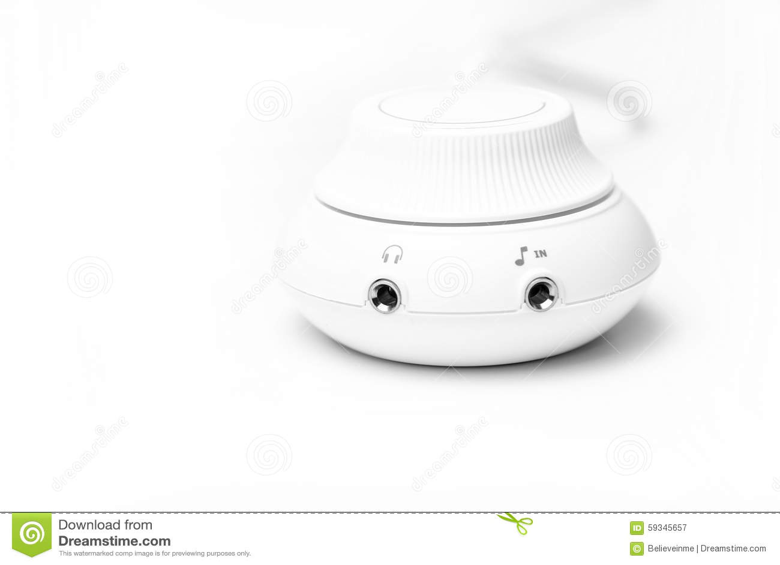 Volume control stock image  Image of round, adjust, blank