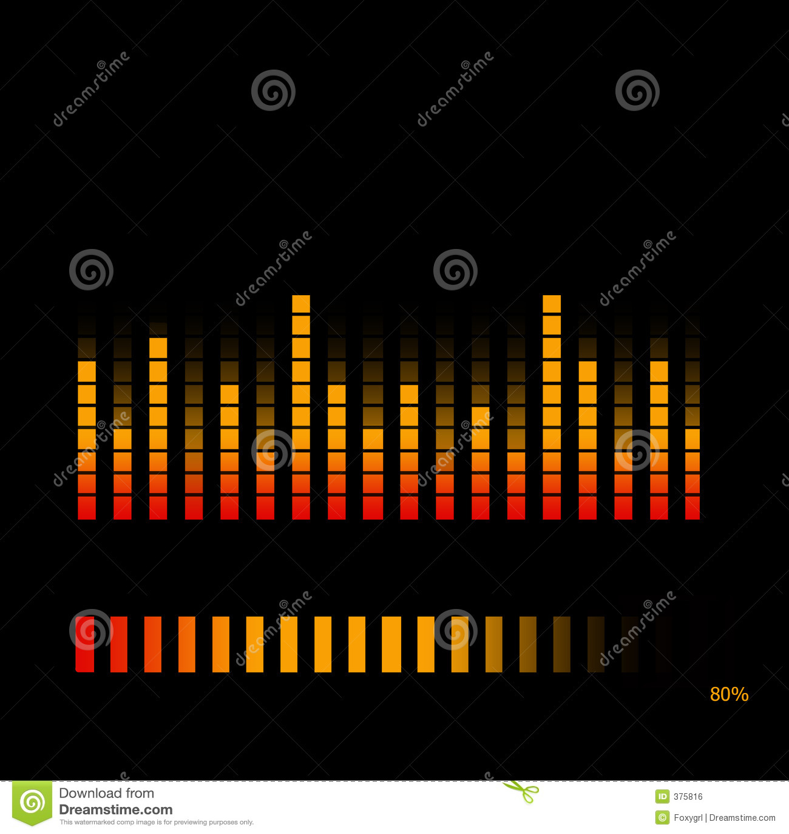 volume equalizer royalty free stock image