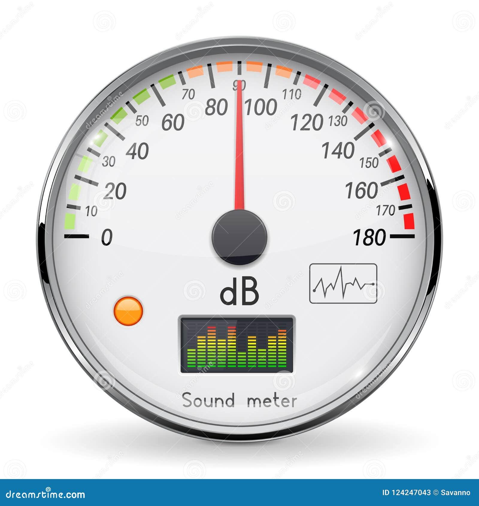 Volume Unit Meter. Sound Audio Equipment. Normal Level. White Glass ...