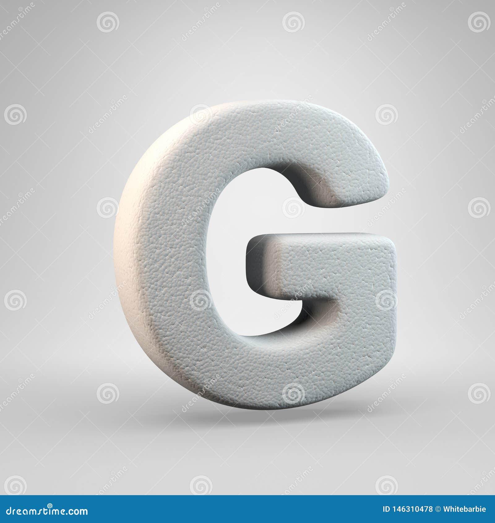 Volumetric construction foam uppercase letter G isolated on white background