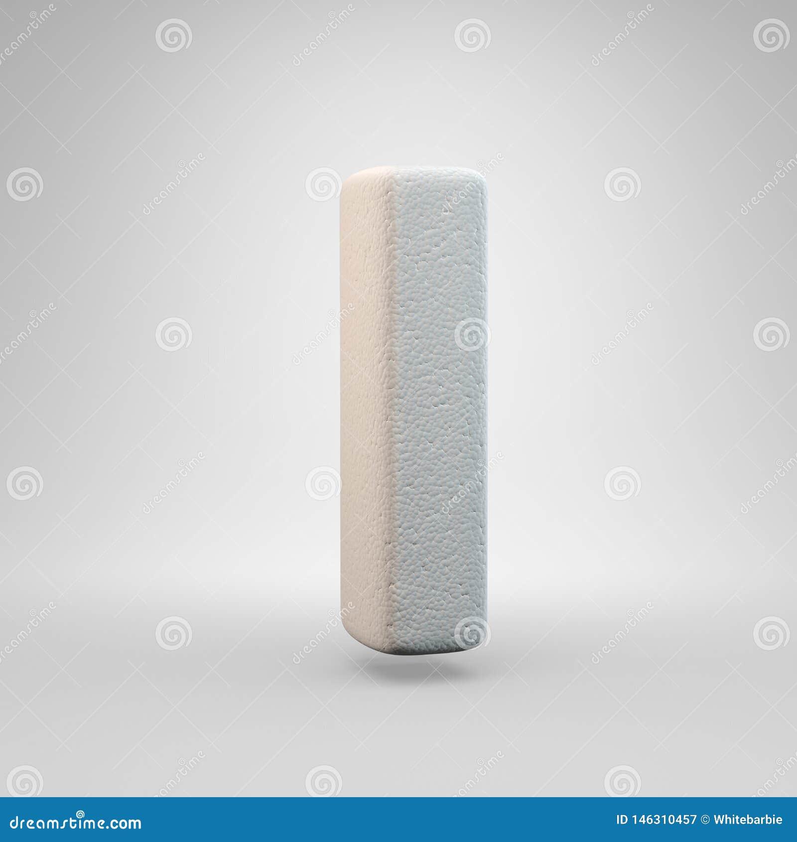 Volumetric construction foam uppercase letter I isolated on white background
