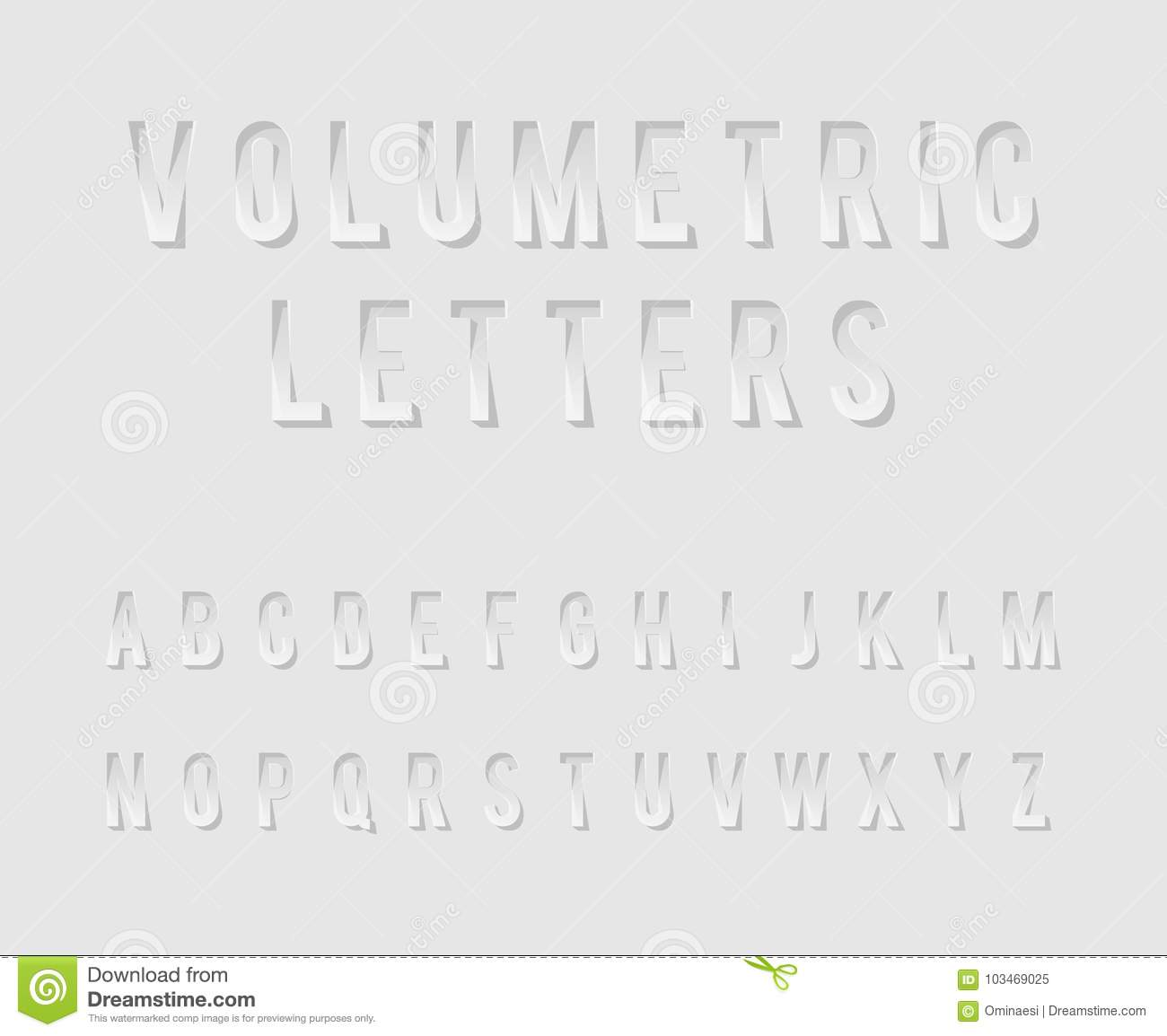 Volumetric Cutout Alphabet Letters Realistic 3d Template Design Mock