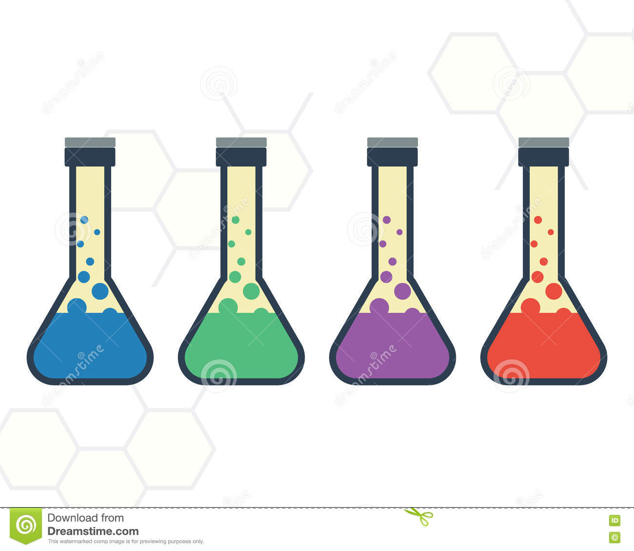 volumetric flask stock illustration. illustration of equipment