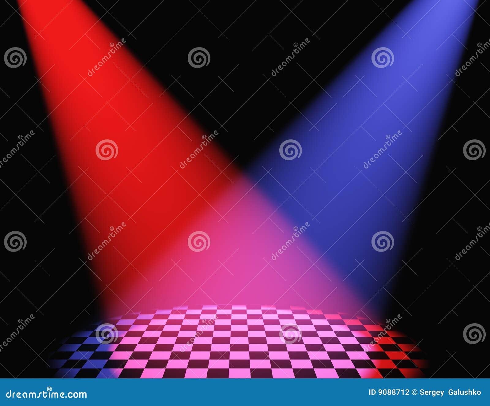 Volumetrische Leuchte der Farbe