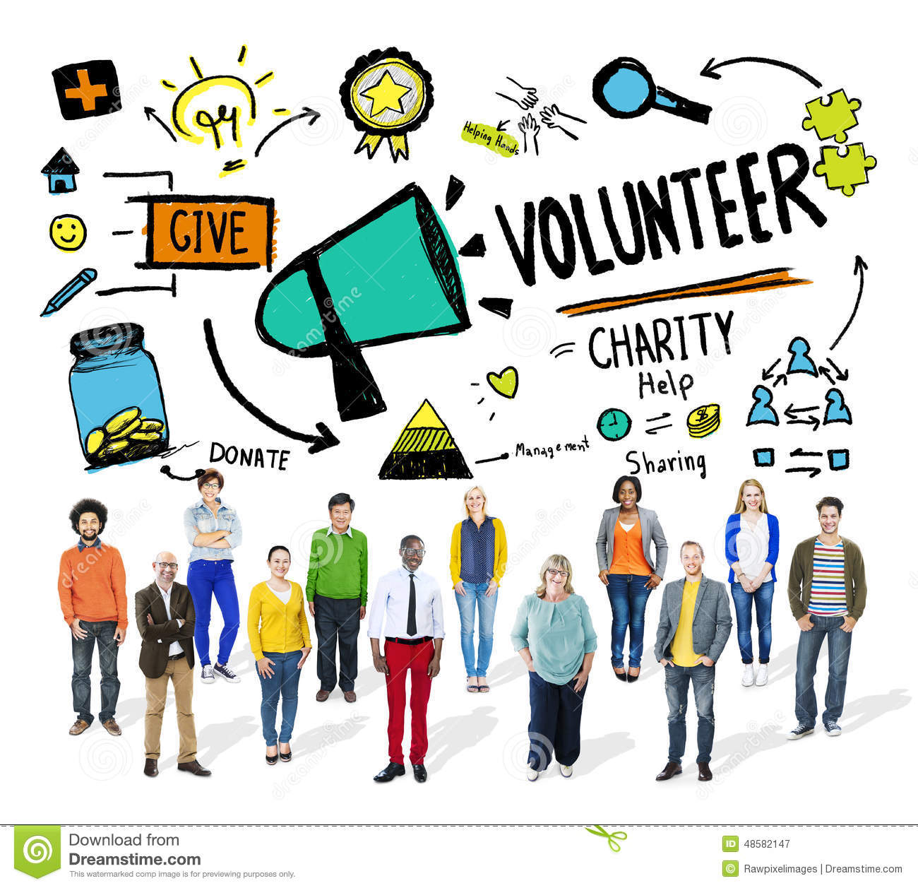 Volunteer charity relief work donation help concept stock for How do foundations work