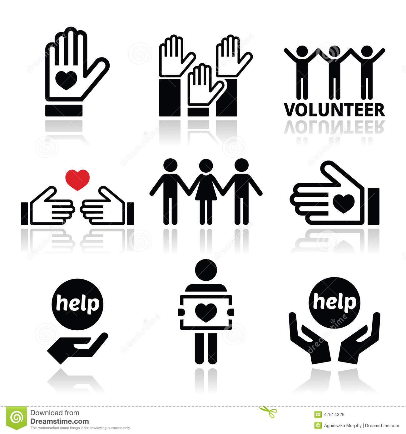 Volunteer people helping or giving concept icons set stock vector volunteer people helping or giving concept icons set buycottarizona Gallery
