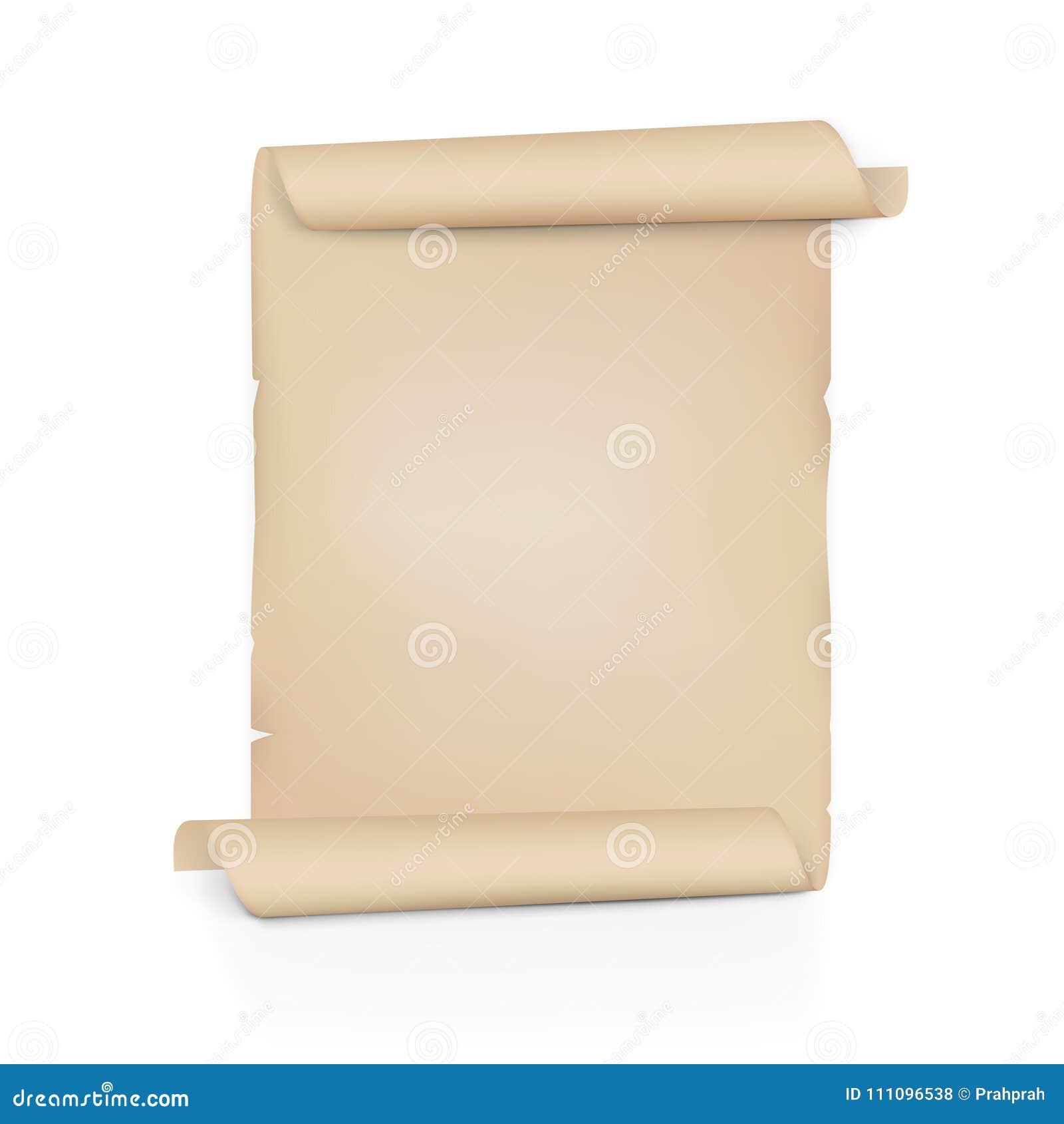 Voluta de papel vieja clara Rollo de la hoja en ambos lados