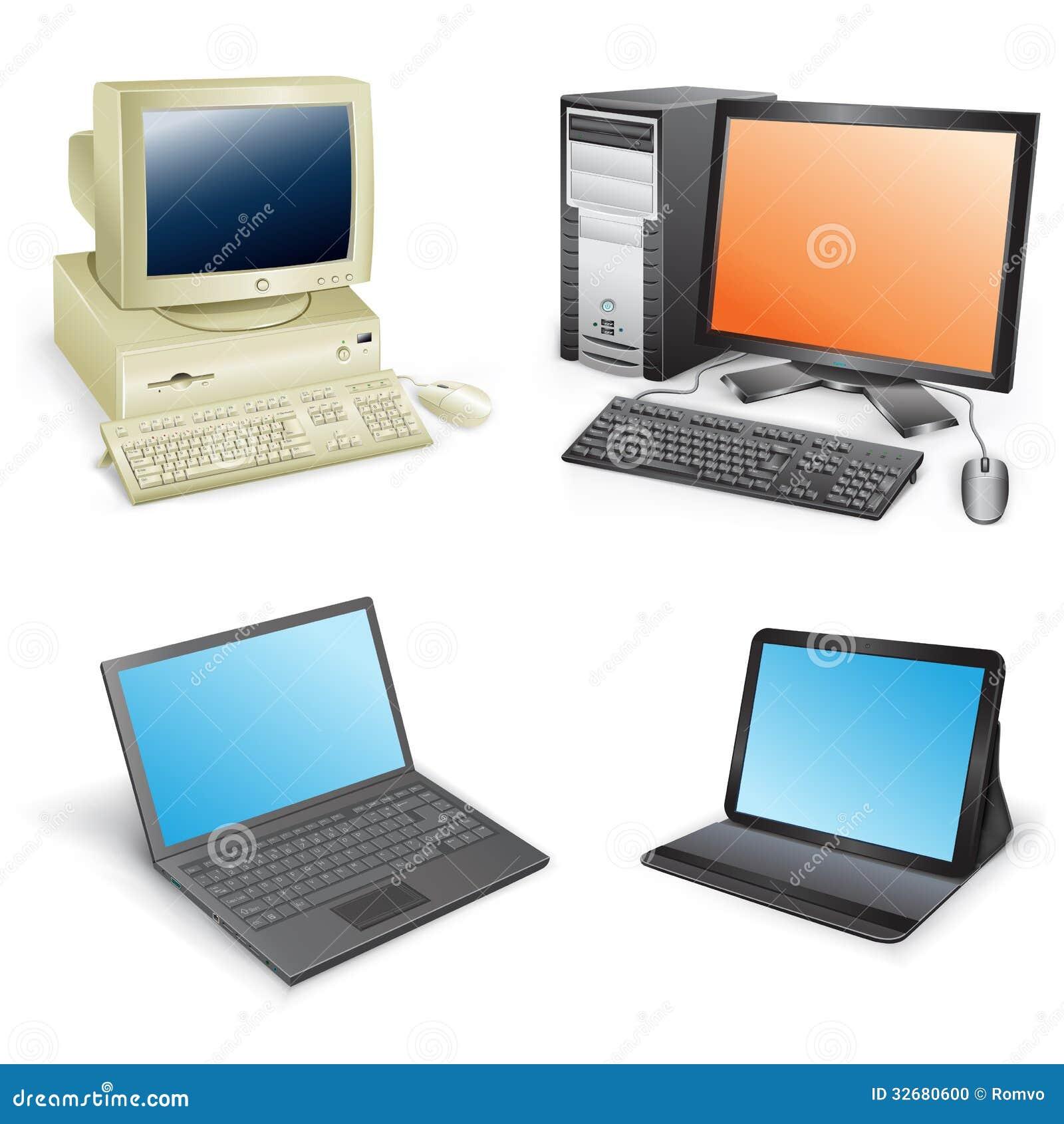 Volution d 39 ordinateur photo stock image 32680600 - L evolution de l ordinateur ...