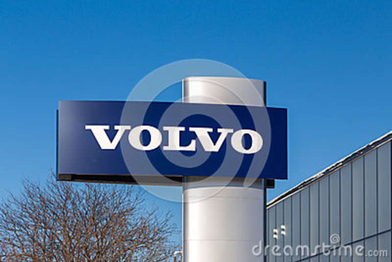 Volvo Automobile Dealership And Sign Editorial Stock Image Image