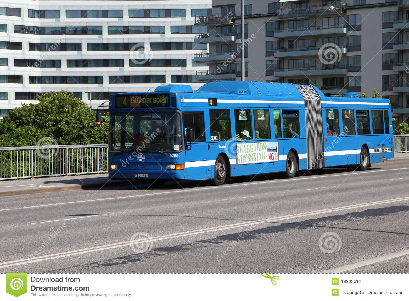 Volvo bus in Stockholm editorial photography. Image of sweden - 18903312