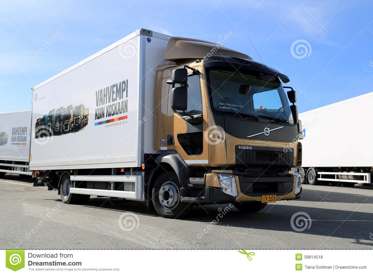 Volvo FL512 Delivery Truck editorial stock photo. Image of haulage - 39814518