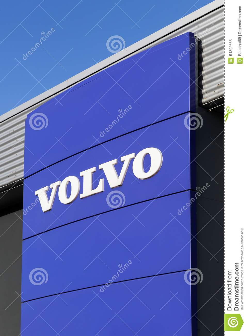 Volvo Logo On A Wall Editorial Stock Photo Image Of