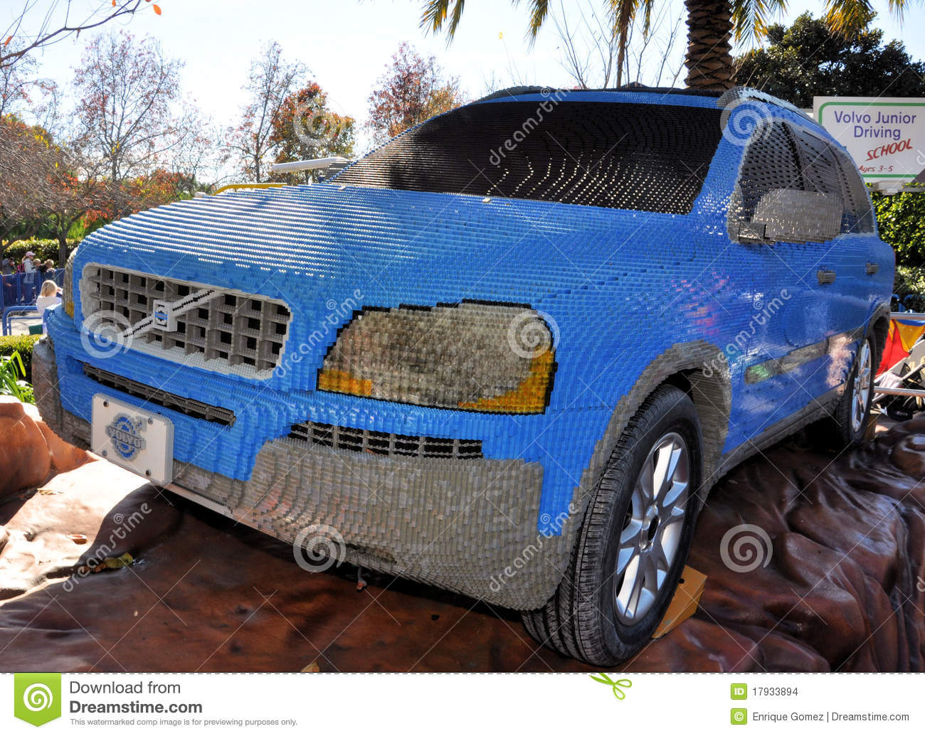 Volvo Made With Lego Blocks Editorial Stock Image Image Of