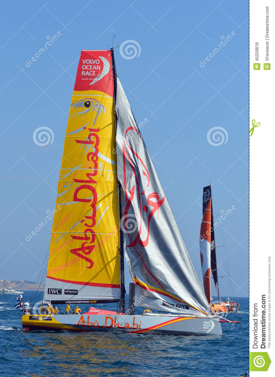 Volvo Ocean Race 2014 - 2015 Abu Dhabi Editorial Stock Photo - Image