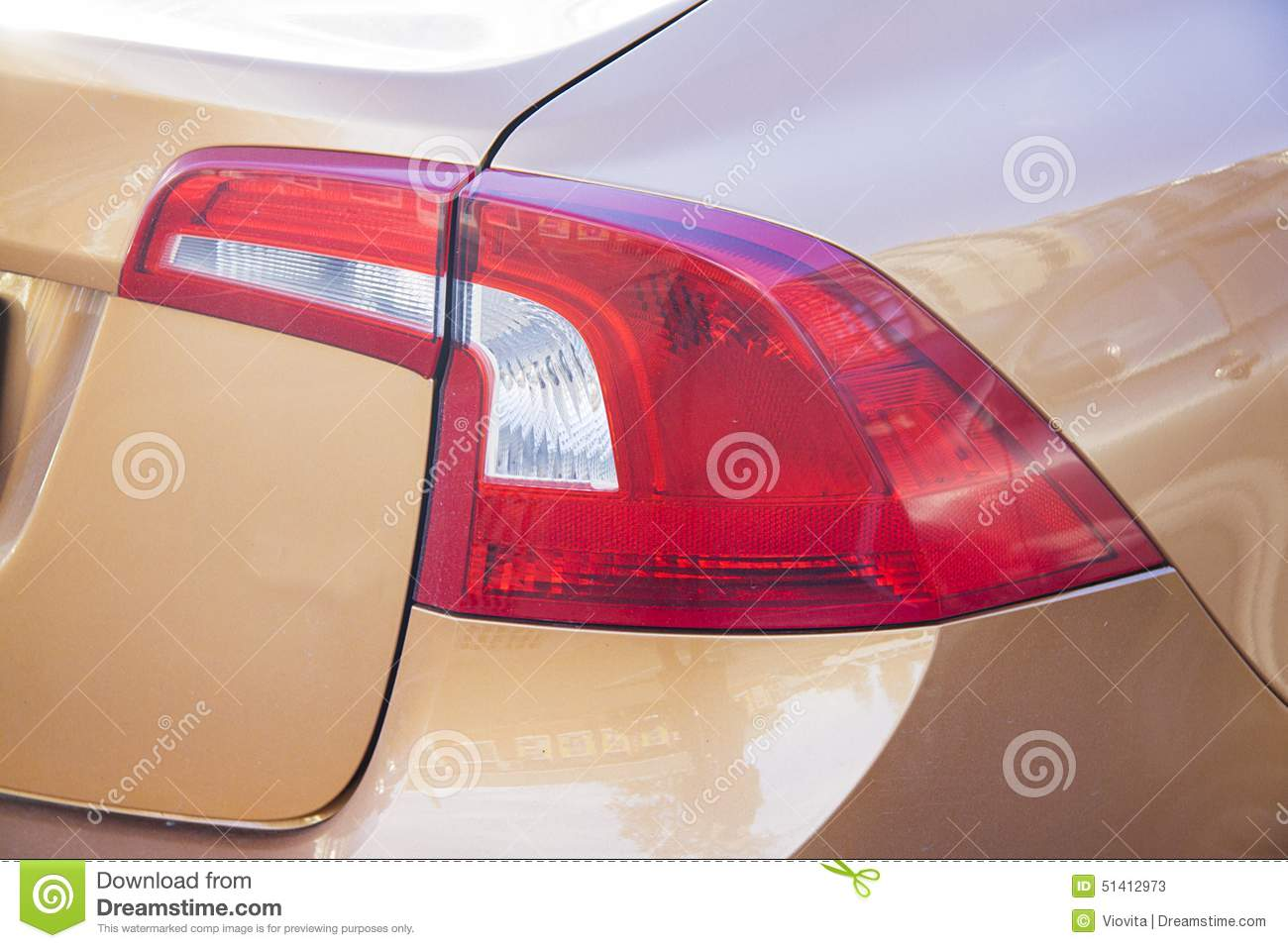Volvo Sedan Back Light Stock Image Image Of Headlight 51412973