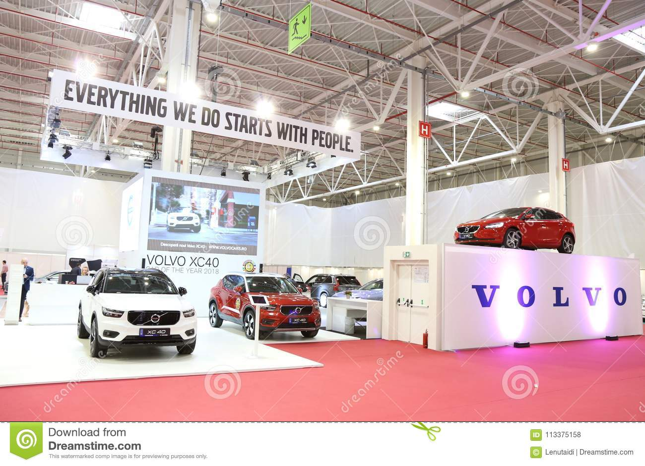 Volvo Exhibition Stand : Volvo stand at siab romexpo bucharest romania editorial