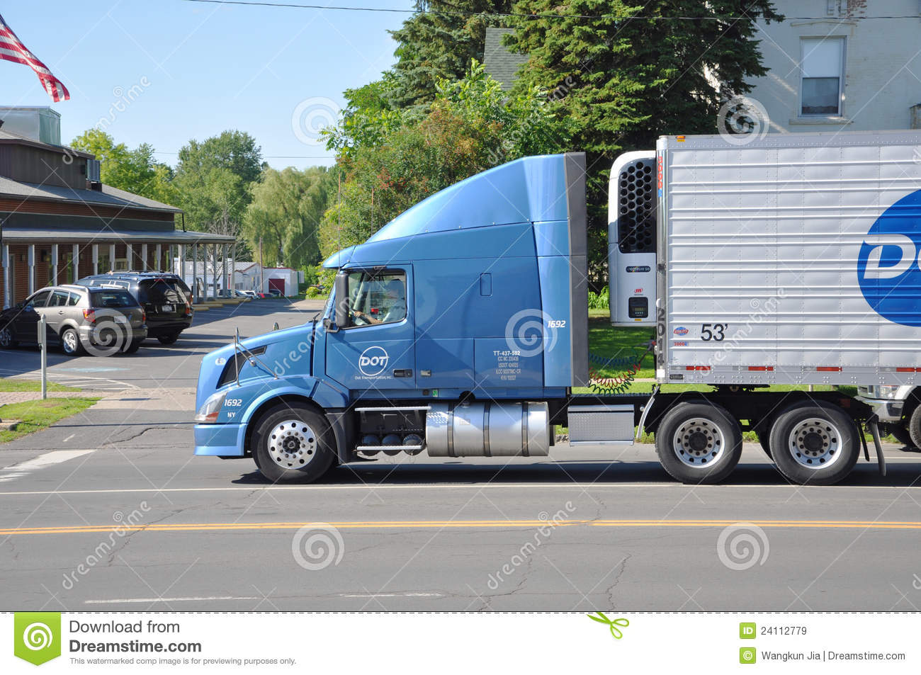 Volvo VN 630 Truck Side View Editorial Stock Image - Image: 24112779