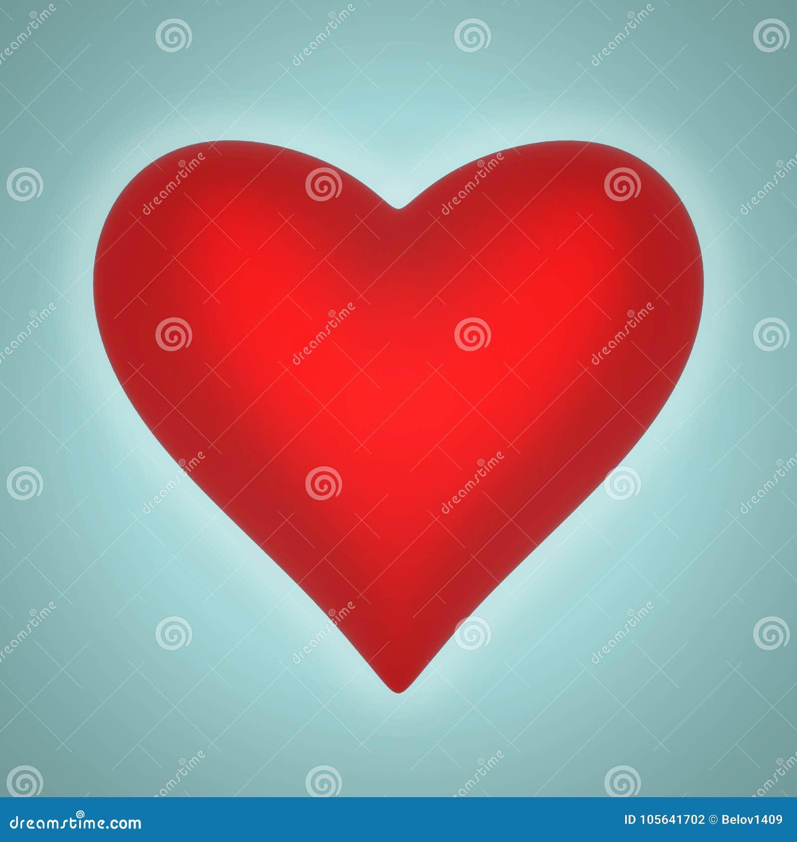 Volymetrisk glansig hjärtaform