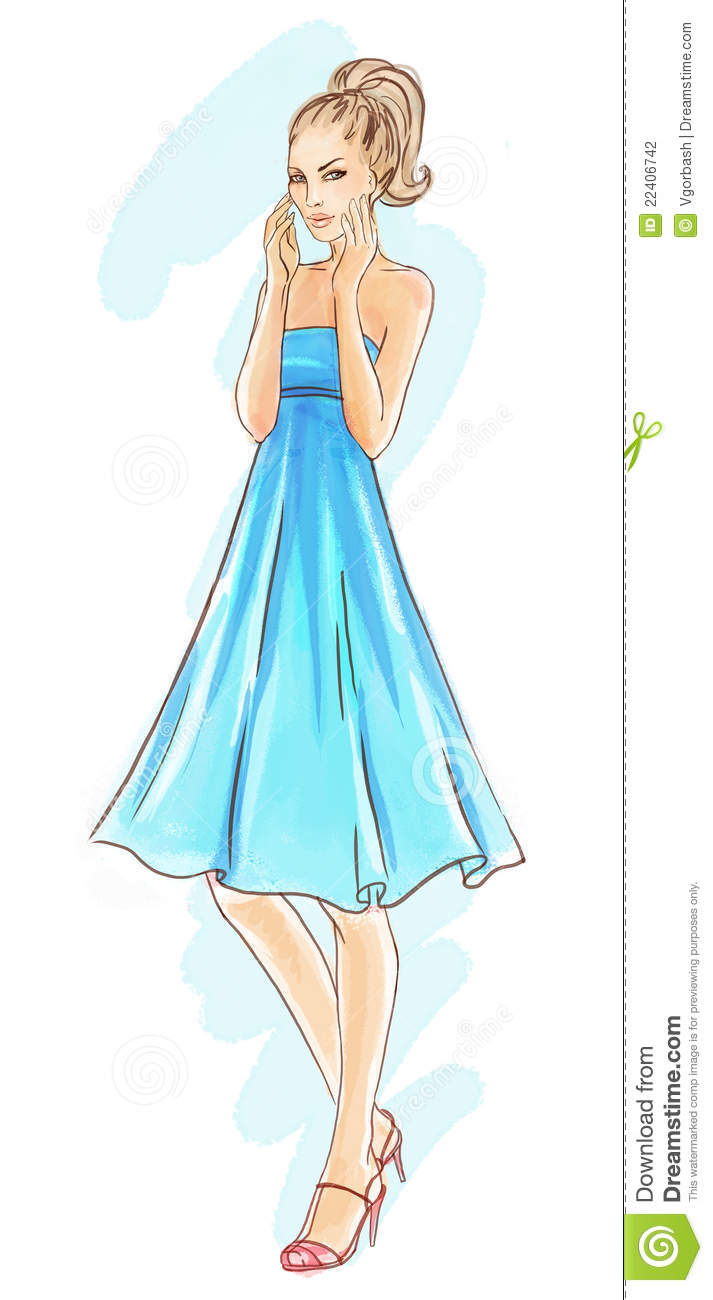 Free Fashion Design Cute Mannequin Sketch