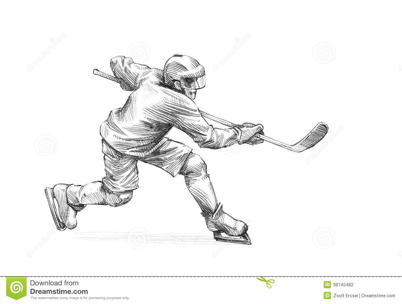 Simple Hockey Coloring Pages
