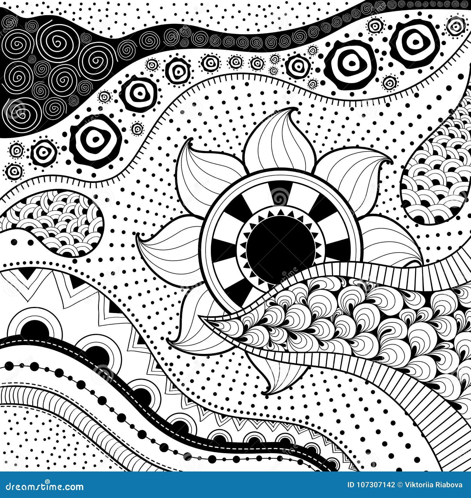 Ethno Muster von hand gezeichnetes ethno muster, stammes- hintergrund es kann für