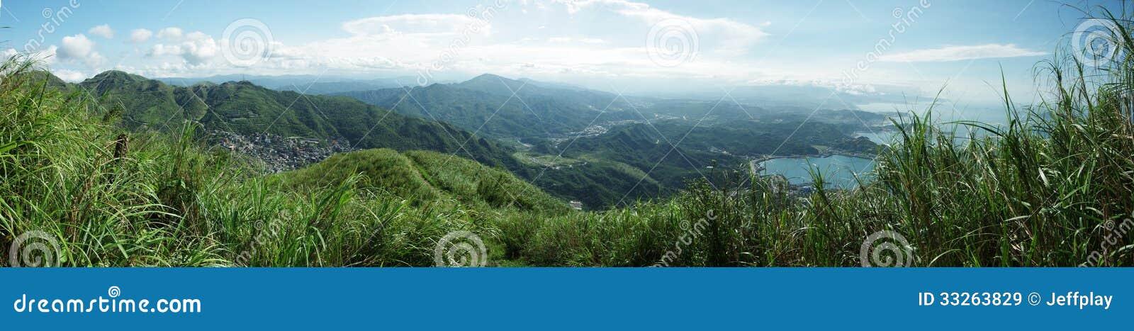 Von Jinguashi-Ansicht zu Jiufen