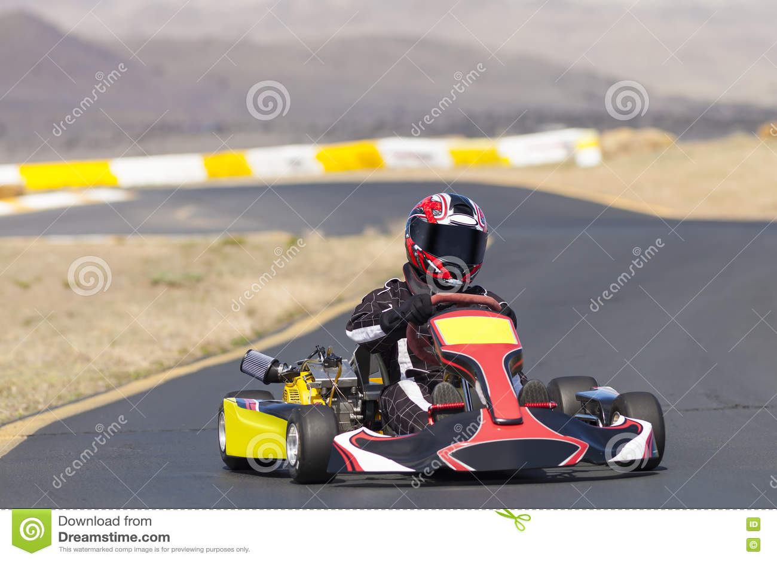 Vont le coureur de kart