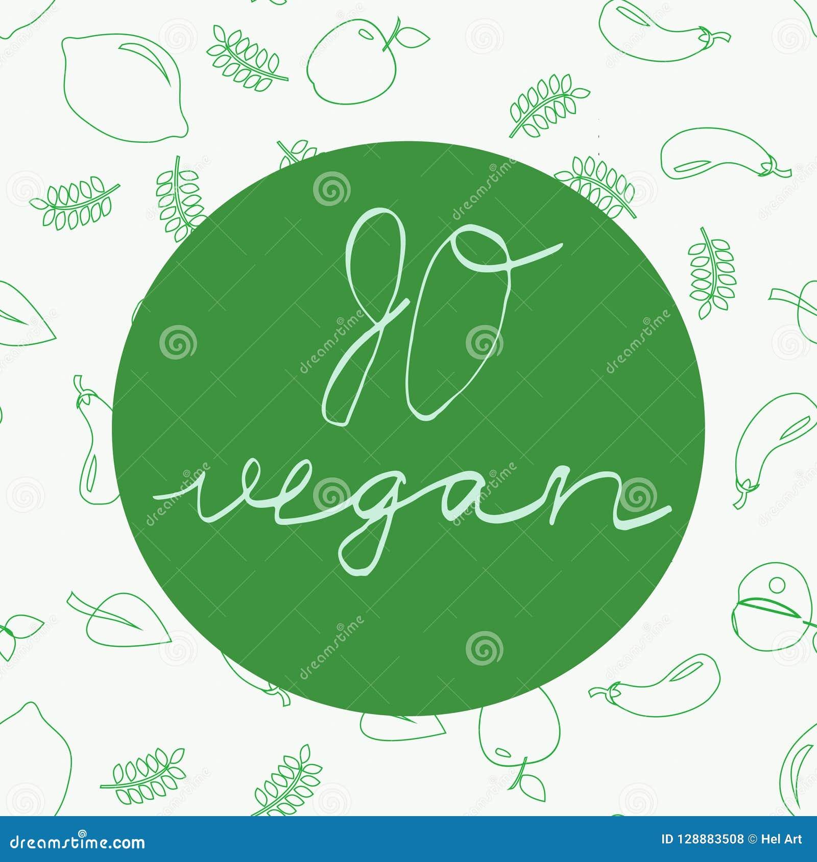 Vont le vegan - affiche ou bannière de motivation