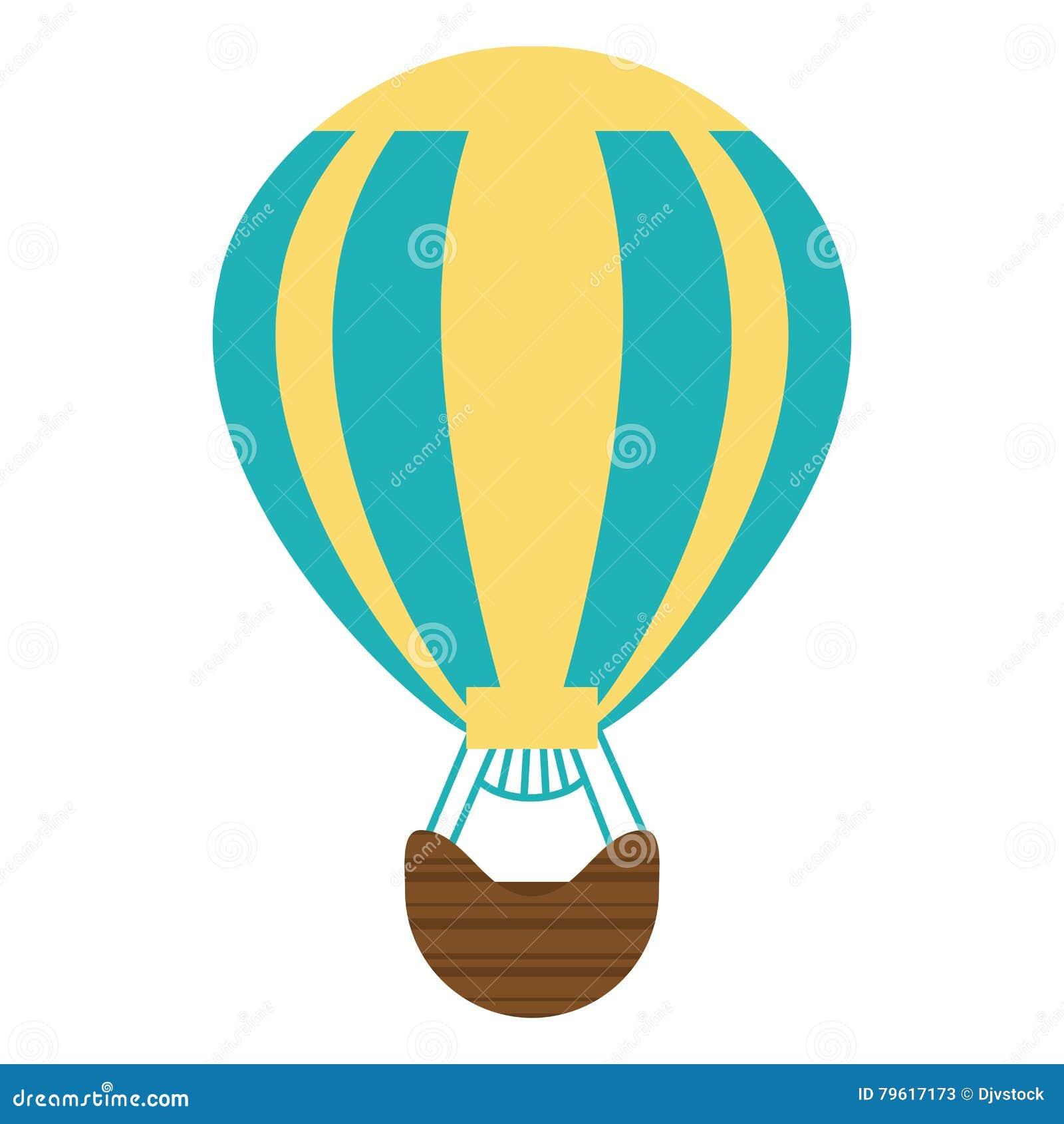 Voo quente do ar do balão